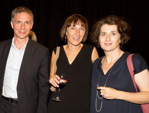 KUB-Direktor Thomas Trummer, Intendantin Elisabeth Sobotka und Nicole Dietrich.