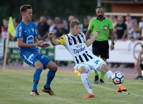 Lask-Spieler Maximilian Ullmann hofft auf einen Heimsieg gegen Lilleström.gepa