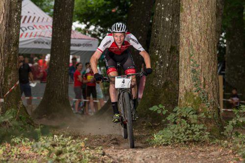 Lokalmatador Daniel Geismayr sorgte mit dem Gewinn der Bronzemedaille im Eliminatorrennen bei der österreichischen Meiserschaft der Mountainbiker am Zanzenberg für einen perfekten Auftakt aus Sicht des Ggastgebenden RV Dornbirn.Privat