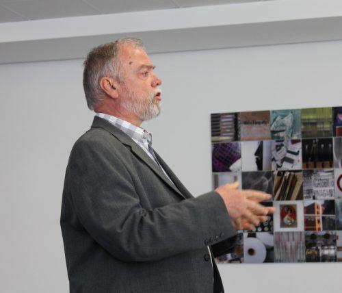 Manfred A. Getzner informierte auf unterhaltsame Weise über sein Firmenarchiv. WAV