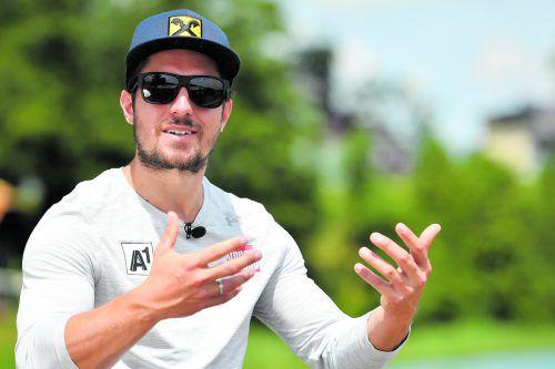 """Marcel Hirscher macht weiter: """"Die Liebe zum Sport ist wahnsinnig groß."""" gepa"""