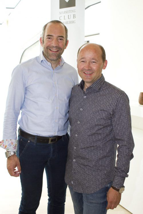 Marketingchef Edgar Eller (l.) und Radexperte Thomas Kofler.