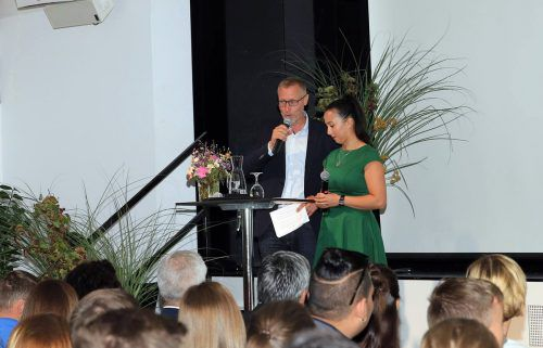 Markus Pedot und Susanna Pröll moderierten das Berufsschul-Valet.
