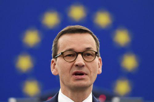 Mateusz Morawiecki lässt sich von der EU-Kommission nichts vorschreiben. AFP