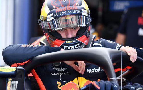 Max Verstappen drehte im Red Bull nur 18 Runden, beeindruckte aber auf dem Hockenheimring am ersten Trainingstag mit der schnellsten Zeit.apa
