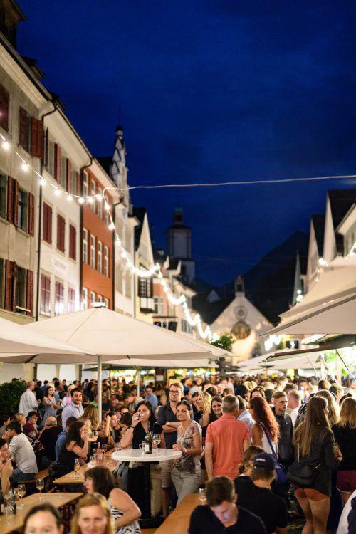 Mit dem Weinfest wird das große Festwochenendein Feldkirch eröffnet. Feldkirch travel/M. Rhomberg