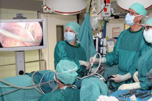 Mit modernster Technik wird der Endometriose im LKH Feldkirch operativ zu Leibe gerückt.khbg