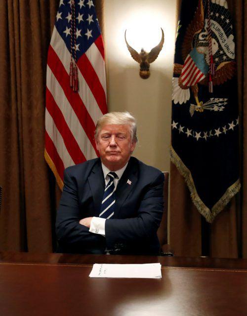 Nach dem öffentlichen Rückzieher schaltete US-Präsident Donald Trump umgehend wieder in den Angriffsmodus.reuters