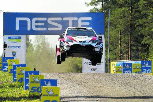 Ott Tänak fuhr auf den vier Etappen eine halbe Minute Vorsprung heraus.apa