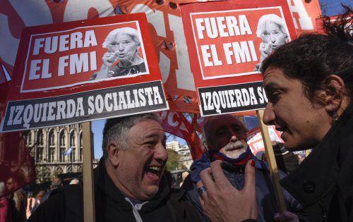 Proteste gegen den Internationalen Währungsfonds. AP
