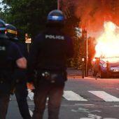 Krawalle nach tödlichem Polizeieinsatz in Nantes