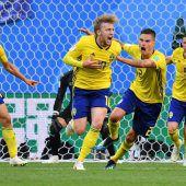 Schweden kegelte Schweiz raus
