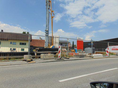 Seit wenigen Wochen wird gebaut. Im Frühjahr 2019 soll das neue Motel Keckeis Inn fertig sein. Michael Mäser