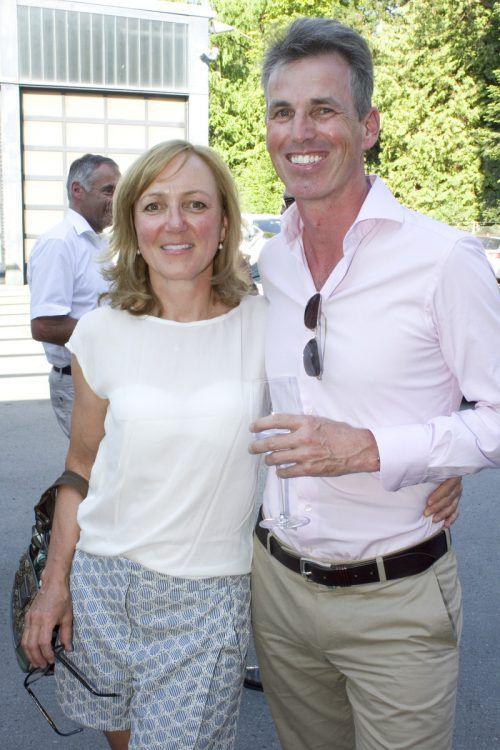Siegerin Damen Brutto Claudia Knoflach-Reichart und Reinhard Knoflach.