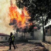 Flammeninferno in Griechenland