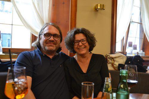 Thomas und Andrea Feuerstein ließen sich die dritte Auflage des Fierobad-Jazz nicht entgehen. BI
