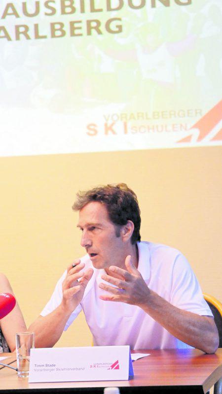 Timm Stade präsentierte seine ambitionierten Pläne.Skilehrerverband
