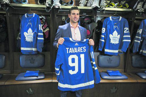 Toronto hat sich die Dienste von NHL-Superstar John Tavares gesichert.ap