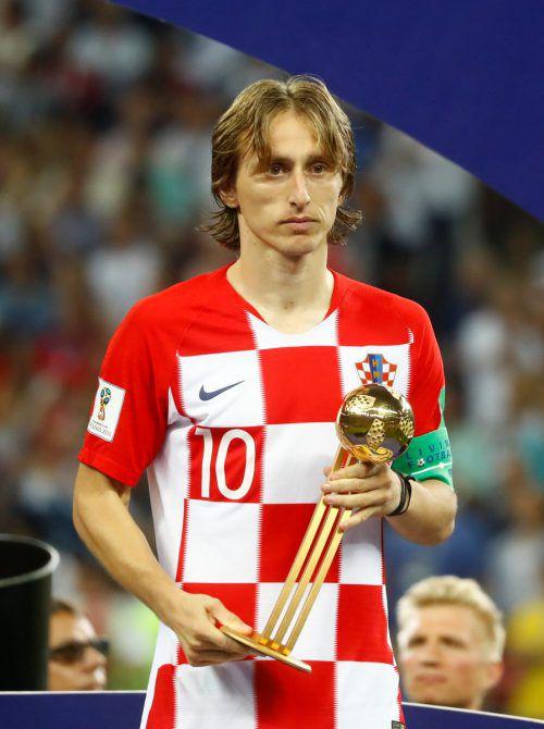 Trauriger Ballartist: Luka Modric erhielt den Goldenen Ball. Reuters