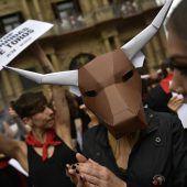 Proteste gegen Stierhatz
