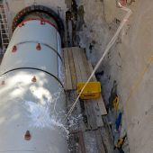 Fritag am Füfe beim Tunnelprojekt