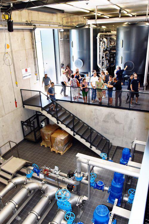 Viele Besucher informierten sich beim Tag der offenen Tür über die Wasserversorgung.