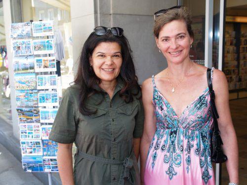 Vizebürgermeisterin Sandra Schoch und Christa Kinz waren begeistert.