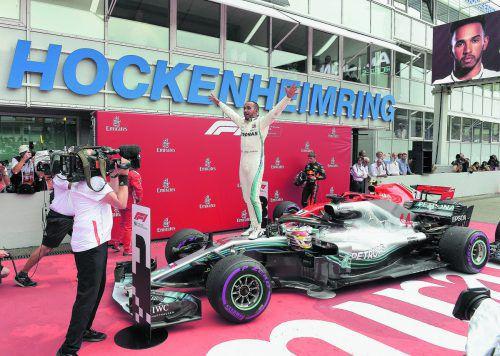 Vom 14. Startplatz zum Sieg, Lewis Hamilton jubelte in Hockenheim über das beste Rennen seiner Karriere.ap