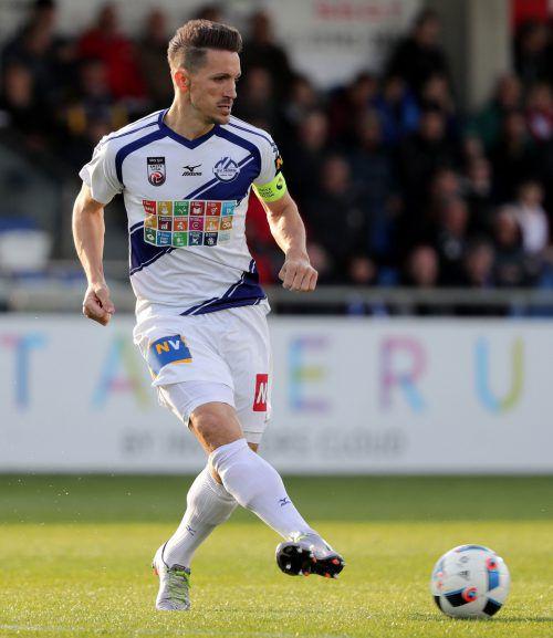 Vom SV Horn über den oberösterreichischen Klub Oedt führte der Weg von Aleksandar Djordjevic nun wieder nach Wolfurt.gepa