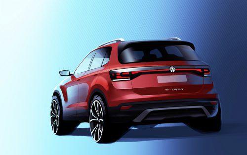 VW präsentiert im Herbst sein neues Mini-SUV T-Cross. Der 4,11 Meter lange Fünftürer positioniert sich unterhalb von T-Roc und Tiguan und schließt das Crossover-Angebot der Wolfsburger vorerst ab.