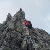 Auf luftiger Leiter zum Gipfelglück