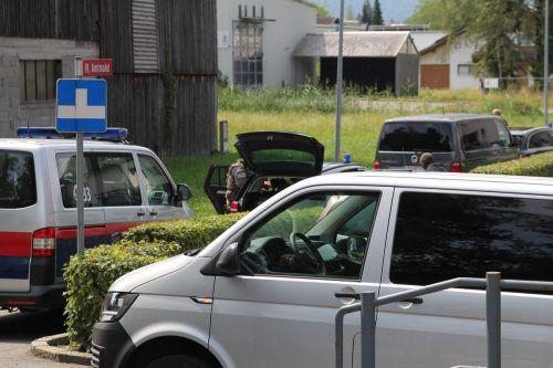 Zum Polizeieinsatz kam es am Sonntagvormittag in Dornbirn-Stiglingen.Vol.at/Rauch