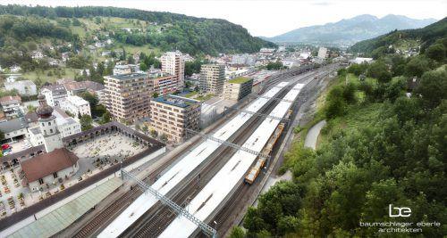 Das BahnhofCity-Hochhaus links vorne wird von der Vogewosi übernommen. BE