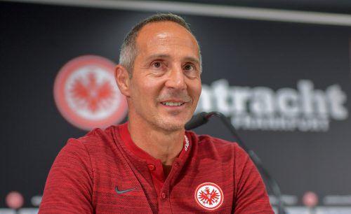 Adi Hütter steht kurz vor der Pflichtspiel-premiere als Eintracht-Coach.gepa