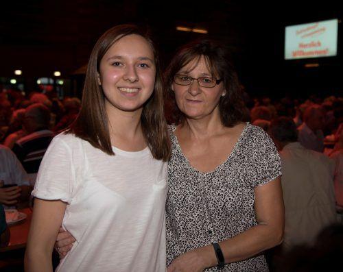 Anita und Tochter Lea Lamprecht feierten mit.