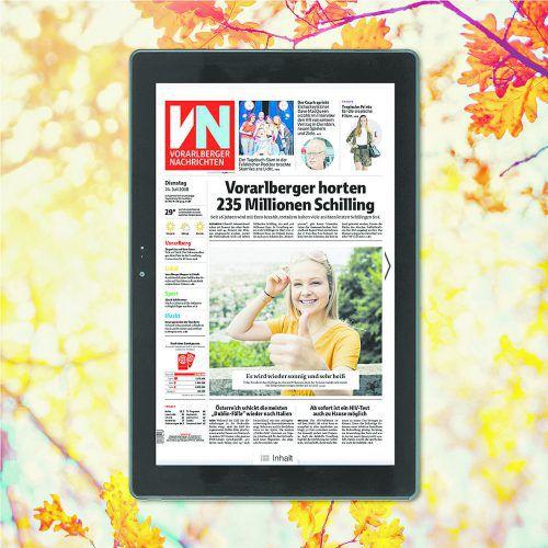 Auf die VN-Digital upgraden, bares Geld sparen und ein Terra Tablet geschenkt bekommen: Das exklusive Messeangebot gilt ab sofort!vn
