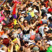 Eine Million Raver feierten in Zürich