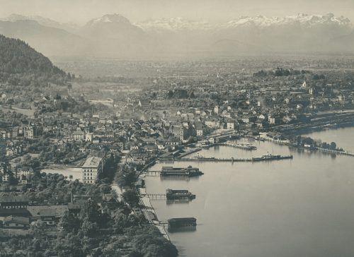 Bregenz samt Hafen und Badeanstalten im Jahre 1902. Stadtarchiv Bregenz