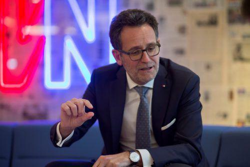 """BTV-Chef Gerhard Burtscher: """"Konjunkturhöhepunkt ist überschritten."""""""