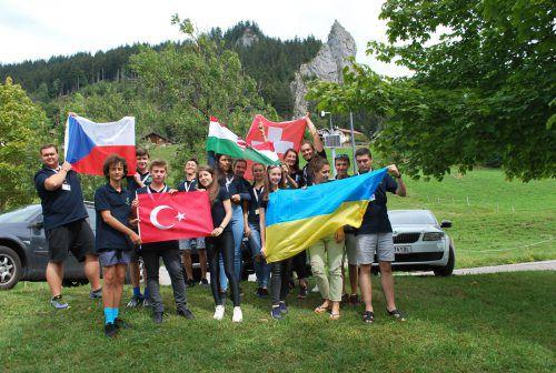 Das Internationale Kiwanis Jugend Camp fand dieses Jahr in Dornbirn-Ebnit statt. ERH