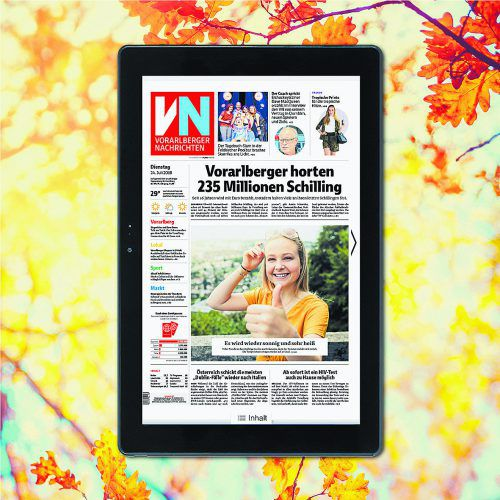"""Das Messeangebot """"VN-Digital + Terra Tablet geschenkt"""" ist gültig bis 2. September und solange der Vorrat reicht."""