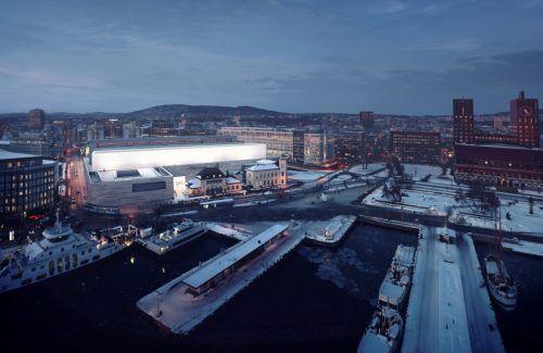 Das neue norwegische Nationalmuseum in Oslo (Rendering) wird von Zumtobel ins richtige Licht gesetzt. NO