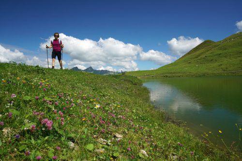 Das Wandern ist der Vorarlberger Lust. Viele Menschen suchen derzeit die kühleren Berge auf. L. Berchtold