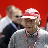Niki Lauda ist  auf dem Weg der Besserung