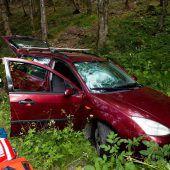 Suchaktion nach Autounfall