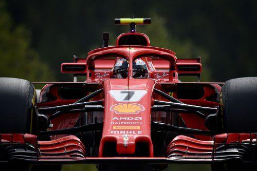 Der vierfache Spa-Sieger Kimi Räikkönen peilt auf dem Ardennen-Kurs in Spa seinen 100. Podestplatz in der Königsklasse an.AFP