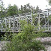 Alte Eisenbahnbrücke wird saniert