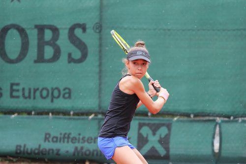 Die an Nummer drei gesetzte Mia Liepert feierte einen Auftaktsieg.TCB