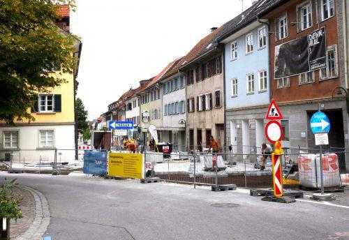Die Arbeiten in der Hohenemser Innenstadt sind auf der Zielgeraden. hohenems