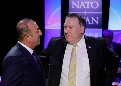 Die Außenminister der Türkei und der USA, Cavusoglu und Pompeo, einigten sich lediglich darauf, uneinig zu sein. AFP